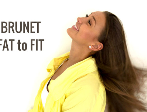 brunet fat to fit fitness proměna